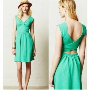 Postmark Anthropologie Cut Out Fit and Flare Dress